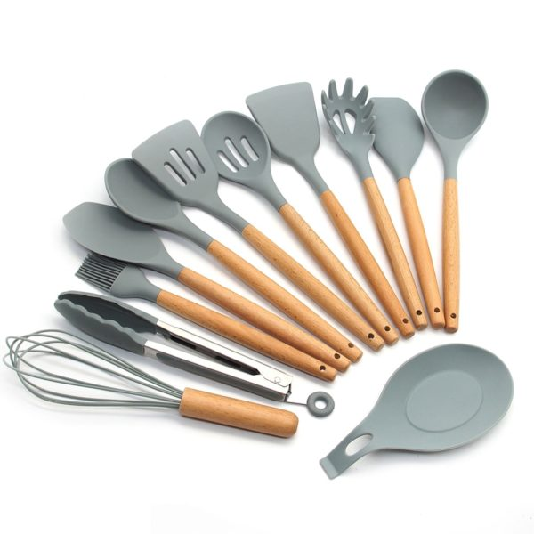 Wooden Silicone Cooking Utensils Set 1