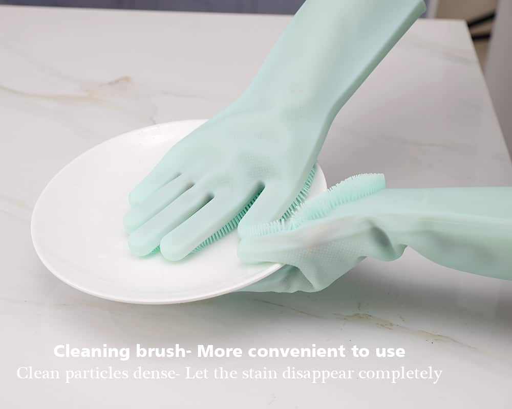 Silicone Reusable Dish Scrubbing Gloves 20